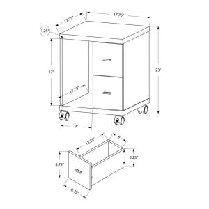 Monarch Specialties White File Cabinet-I 7055 - The Home Depot