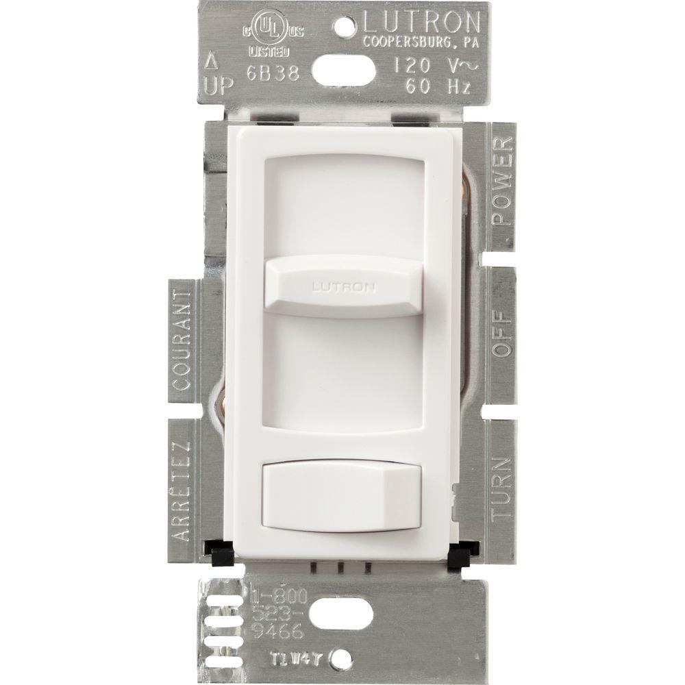Lutron Skylark Contour 1.5-Amp Single-Pole/3-Way Quiet 3-Speed Fan Control - White