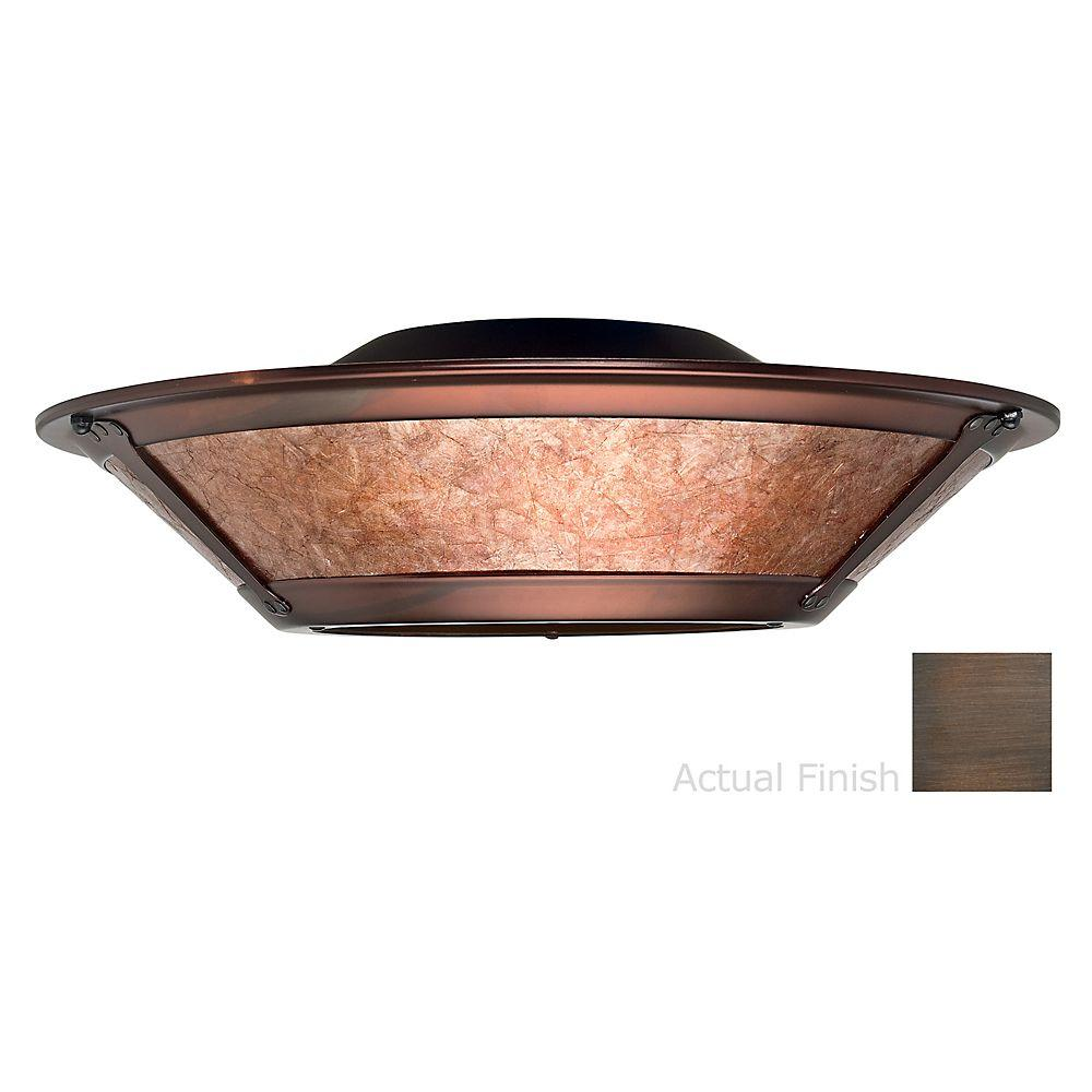 Casablanca 3-Light Brushed Cocoa Ceiling Fan Integrated Mica Fixture with Glass Light Kit-DISCONTINUED