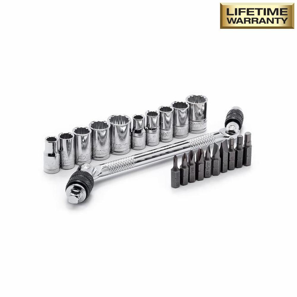 Swivel Speed Z Hex Bit Socket and Wrench Set (21-Piece)