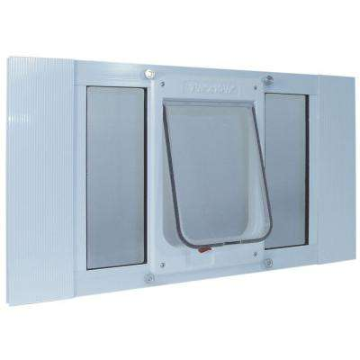 7.5 in. x 10.5 in. Large Chubby Cat Frame Door for Installation into 33 in. to 38 in. Wide Sash Window
