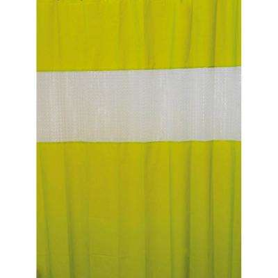 Laser 71 in. x 79 in. Peva Lime Green Solid Colors Bath Shower Curtain