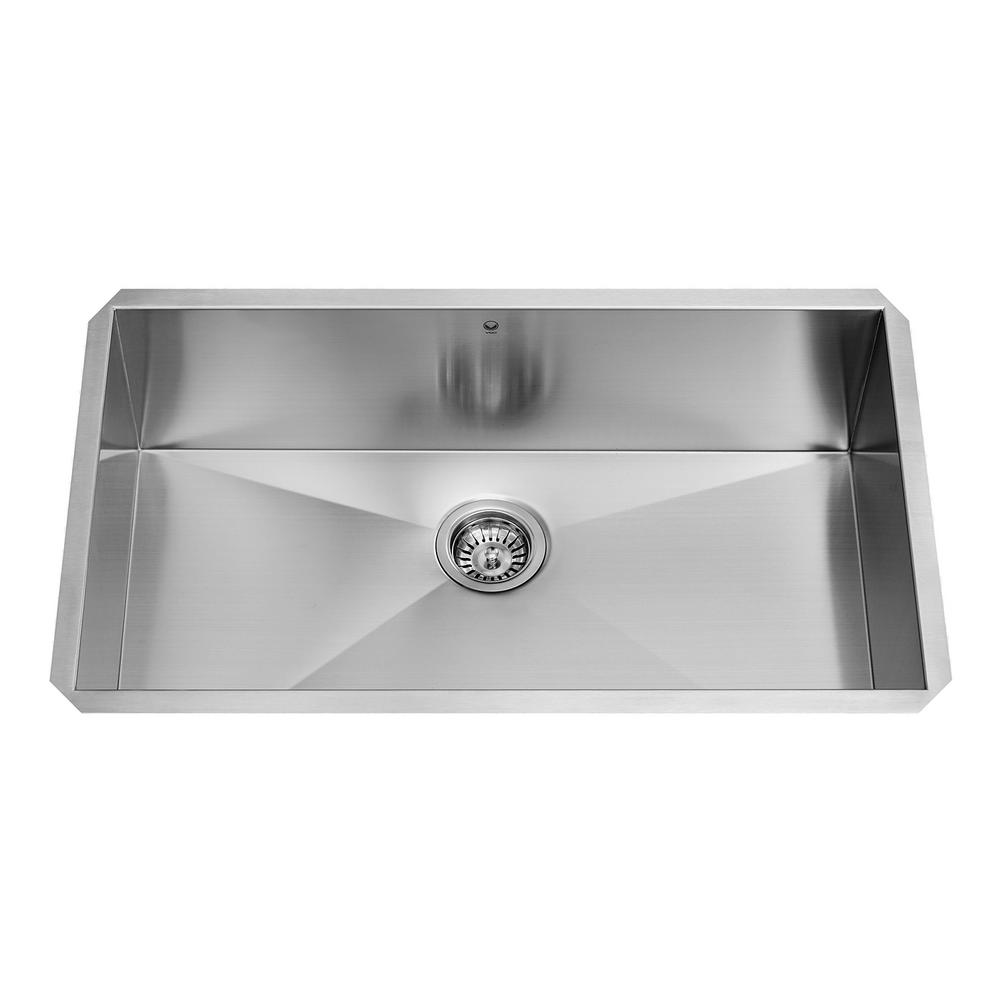 Superb VIGO Undermount Stainless Steel 32 In. Single Bowl Kitchen Sink