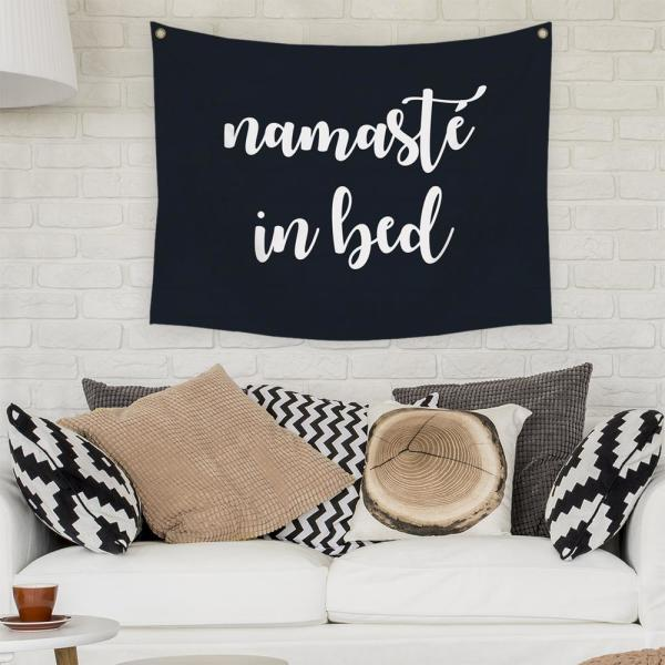 Stratton Home Decor Namaste In Bed Wall Tapestry