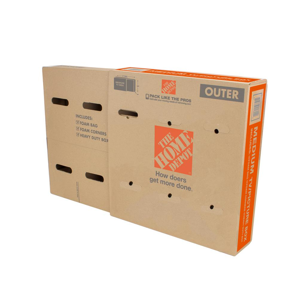 The Home Depot Small Moving Box 10 Pack 16 In L X 12 In W X 12 In D Smbx10 The Home Depot