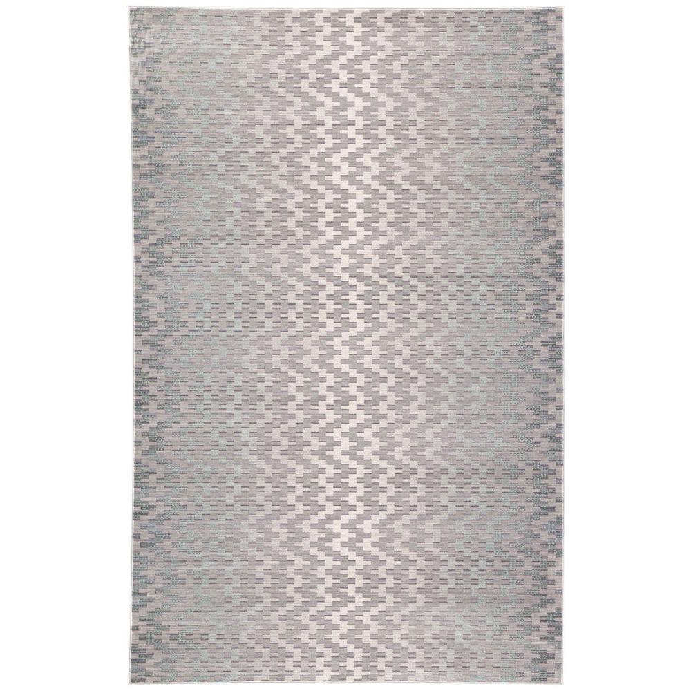 Ceres Light Gray 2 ft. x 3 ft. Chevron Rectangle Accent
