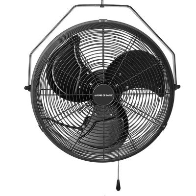 18 in. 3-Speed High Velocity Black Wall Mount Fan with 3 Blades