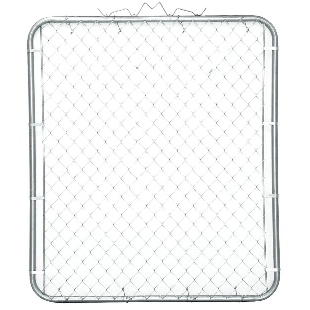 YARDGARD 48 in. W x 48 in. H Galvanized Steel Bent Frame Walk-Through Chain Link Fence Gate