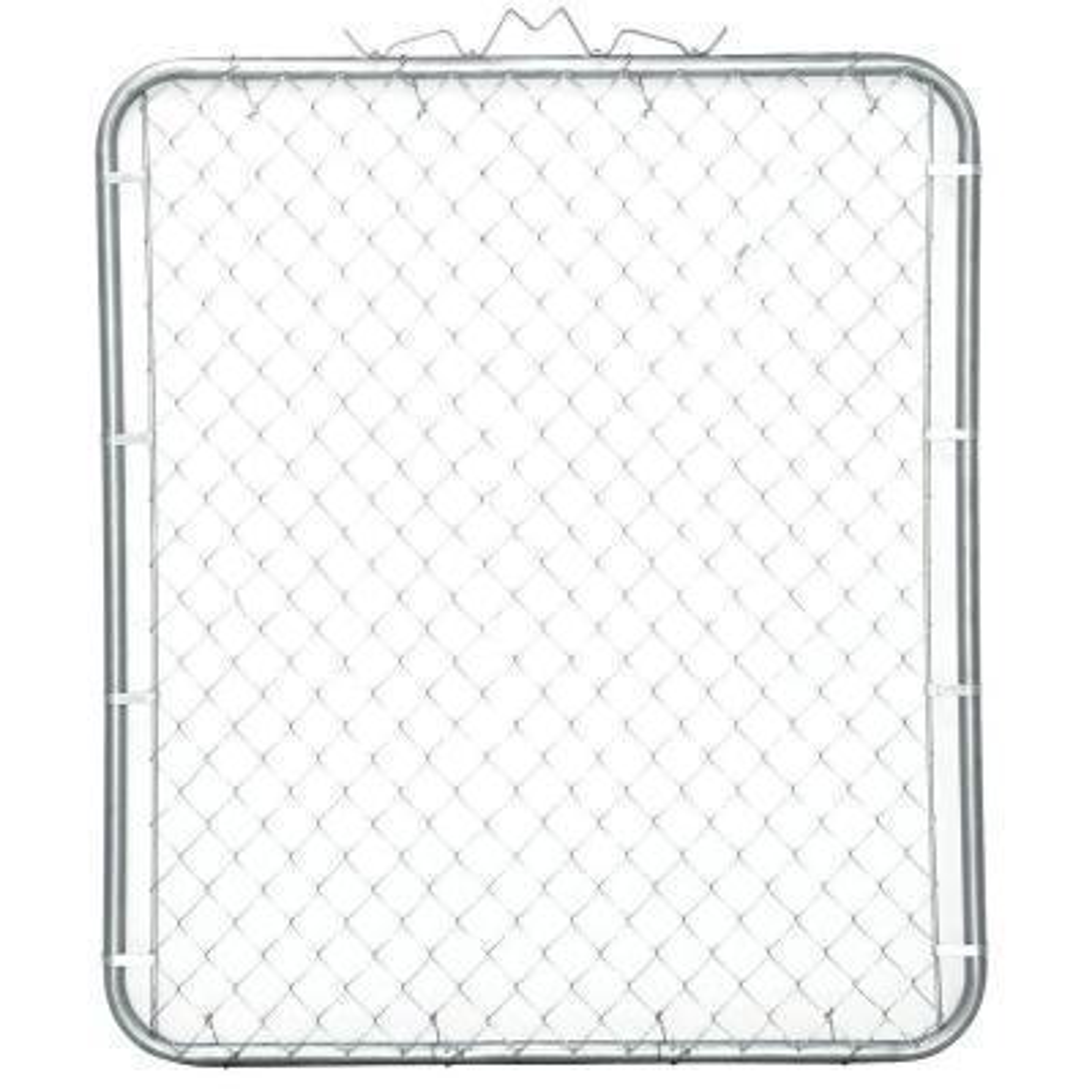 48 in. W x 48 in. H Galvanized Steel Bent Frame Walk-Through Chain Link Fence Gate