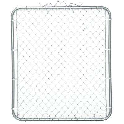 44 in. W x 48 in. H Galvanized Steel Bent Frame Walk-Through Chain Link Fence Gate
