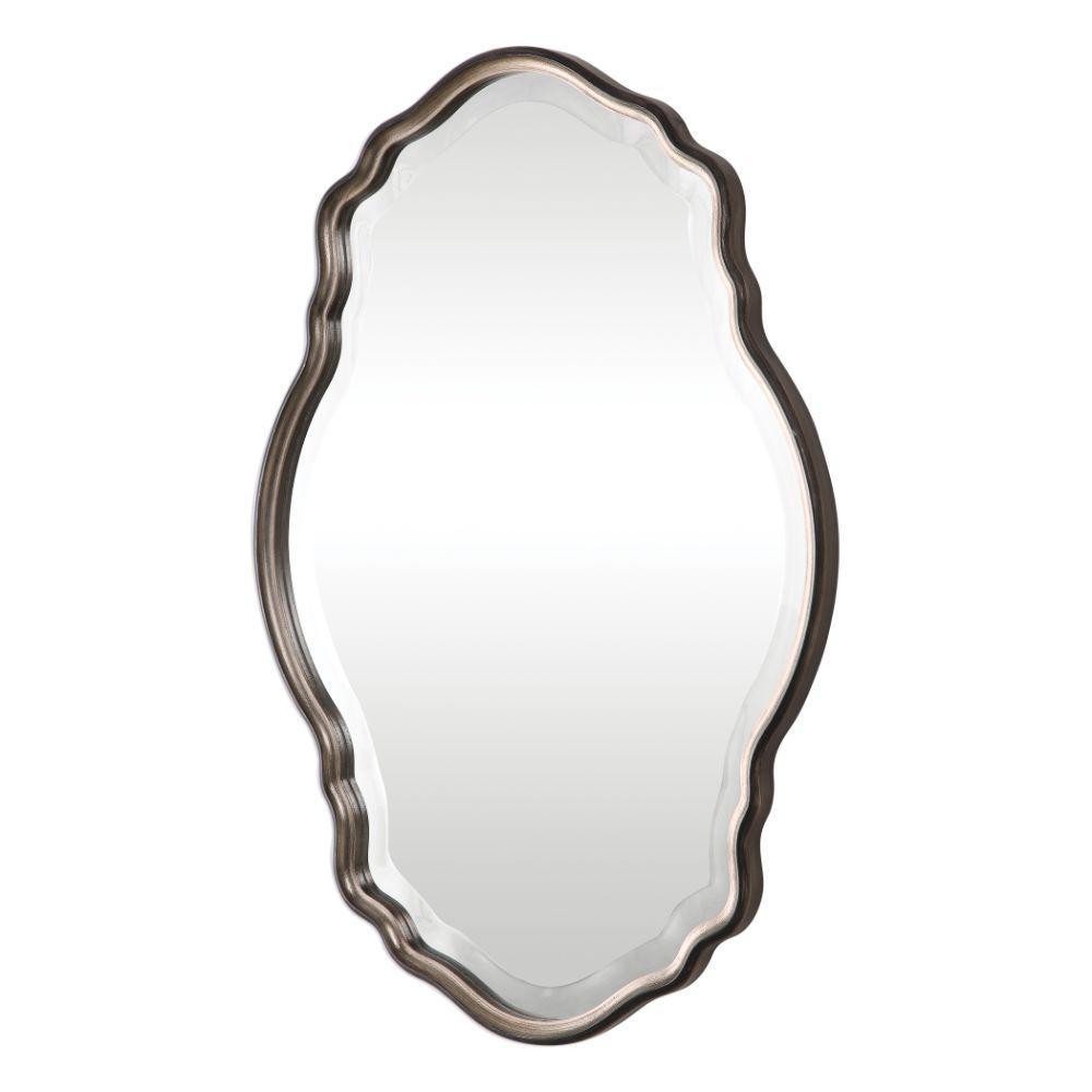 Medium Irregular Brown Modern Mirror (33.25 in. H x 22.25 in. W)