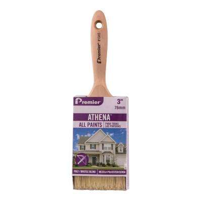 Athena 3 in. Flat Polyester Bristle Blend Paint Brush (12-Pack)