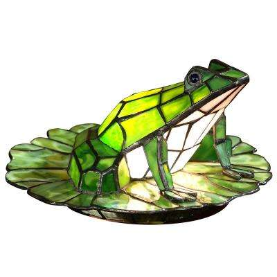 5.75 in Tiffany Art Glass Frog Accent Lamp