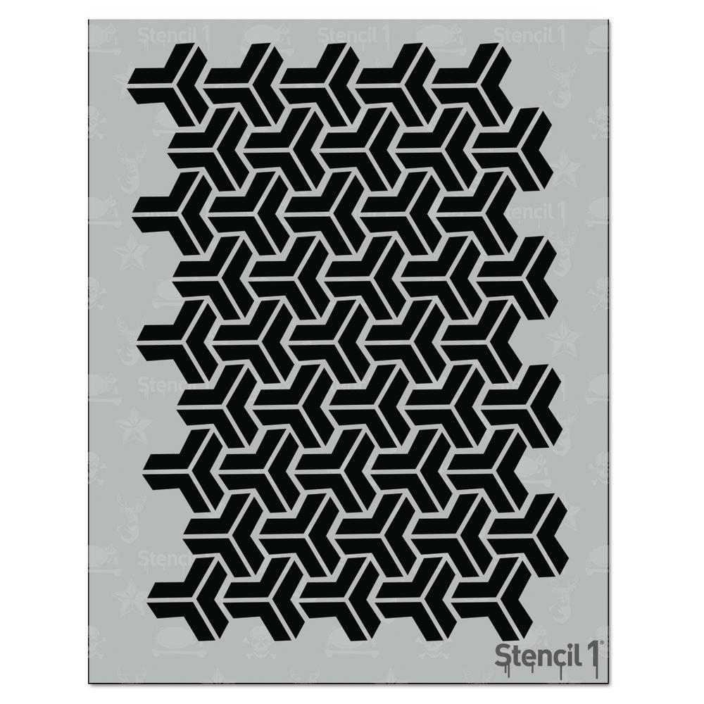 Y Medium Repeat Pattern Stencil