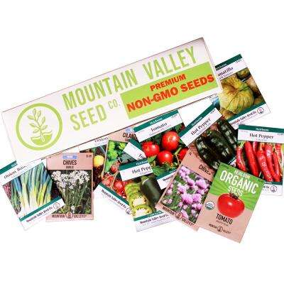 12 Non-GMO Seed Packs, Jalapeno, Tomato, More Deluxe Assortment Mexican Salsa Garden Seeds Collection