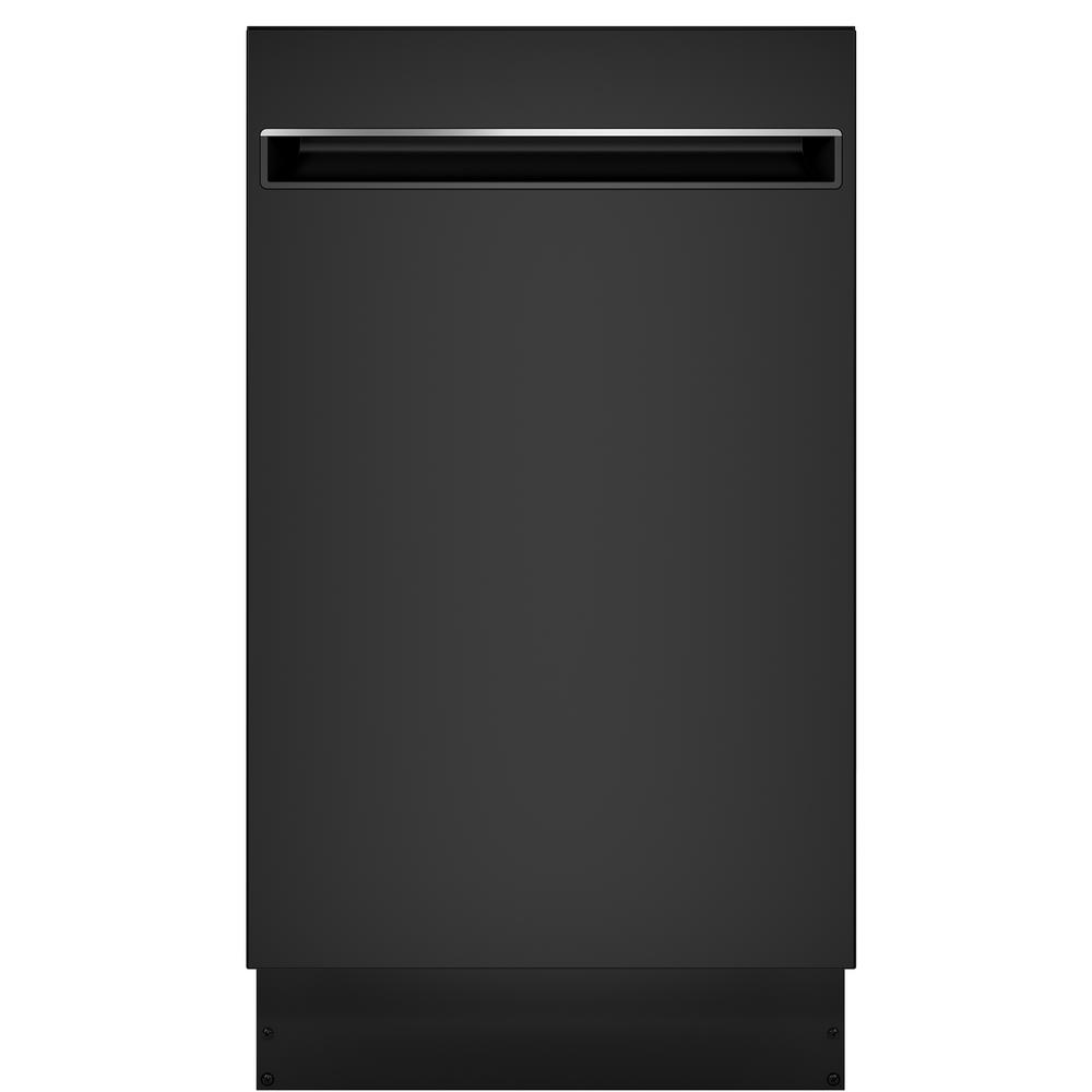 Ge Profile 18 In Top Control Dishwasher In Black With