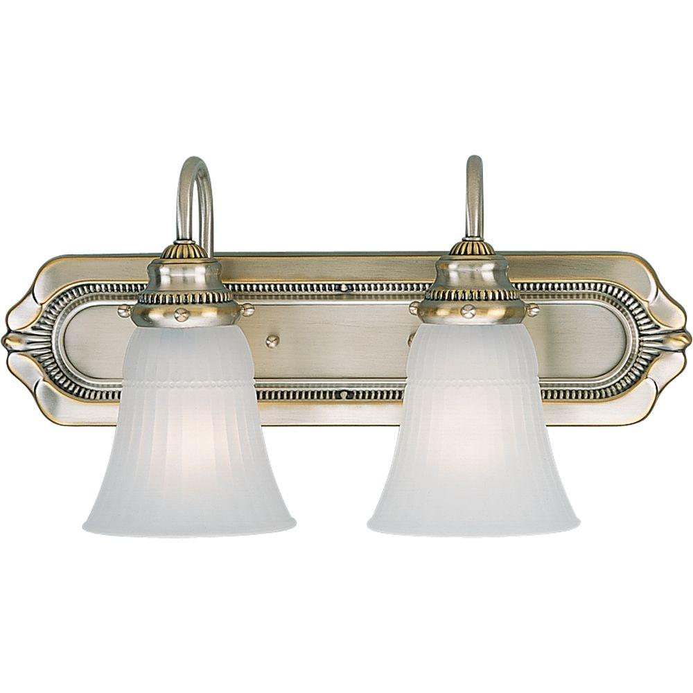Progress Lighting Huntington Collection Colonial Silver 2-light Vanity Fixture-DISCONTINUED