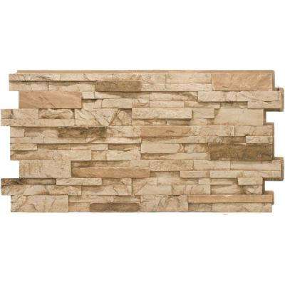 Stacked Stone #35 Desert Tan 24 in. x 48 in. Stone Veneer Panel