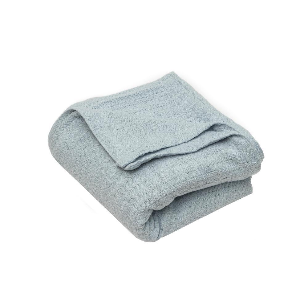 Layla Light-Blue Throw Blanket