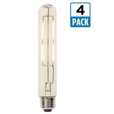 60W Equivalent Soft White T9 Dimmable Filament LED Light Bulb (4-Pack)