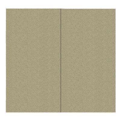 64 sq. ft. Alabaster Fabric Covered Full Kit Wall Panel