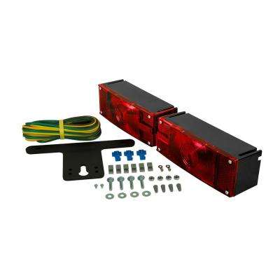 Trailer Lamp Kit 7-7/8 in OEM Low Profile Sealed Capsule Submersible Light Kit Red for Over and Under 80 in.