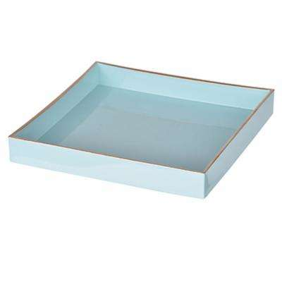 Blue Alluring Square Tray