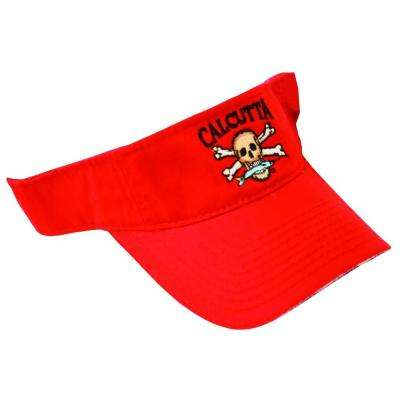 Adjustable Strap Low Profile Visor in Red with Fade-Resistant Logo