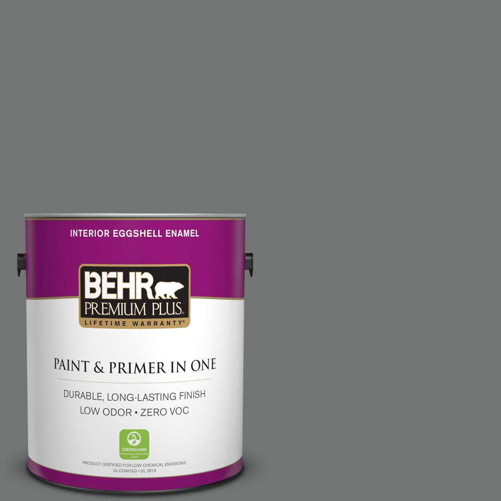 1 gal. #N520-5 Iron Mountain Eggshell Enamel Zero VOC Interior Paint