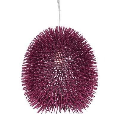 Urchin 1-Light Plum Pendant