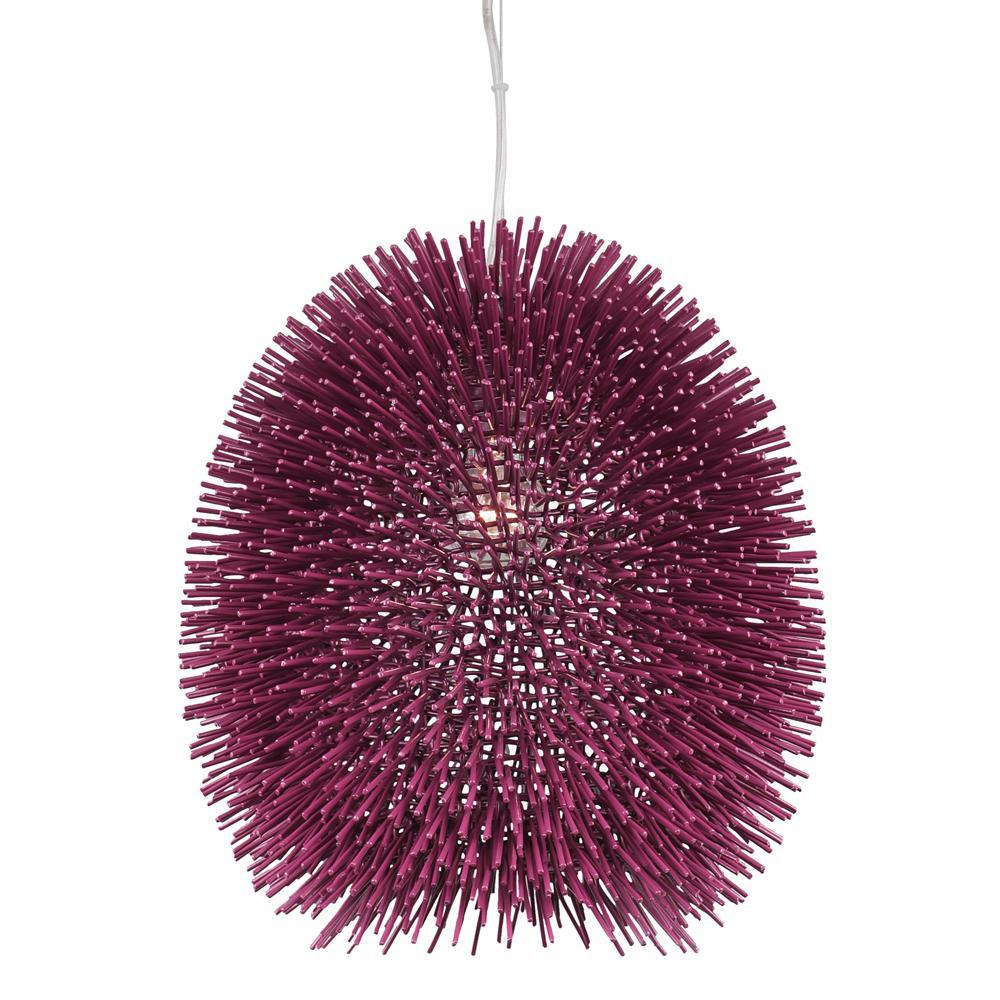 Urchin 1-Light Plum Pendant