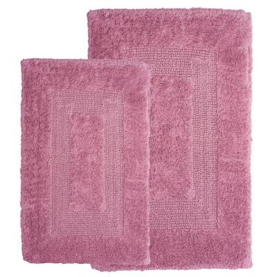 Rose 1 ft. 10 in. x 2 ft. 11 in. Cotton 2-Piece Bath Rug Set