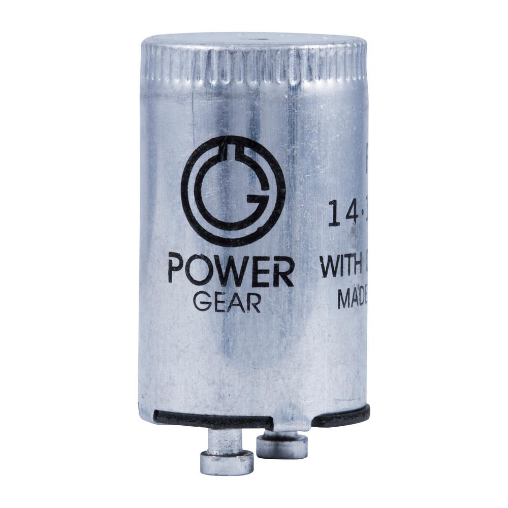 Power Gear Fluorescent Starter FS-2 (2-Pack)-54388 - The Home Depot