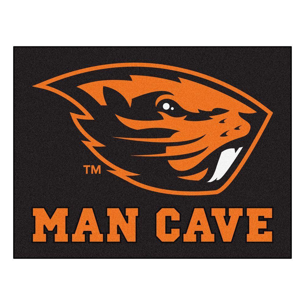 Oregon State University Black Man Cave 2 ft. 10 in. x