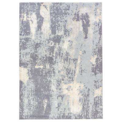 Steel Gray 2 ft. x 3 ft. Abstract Area Rug