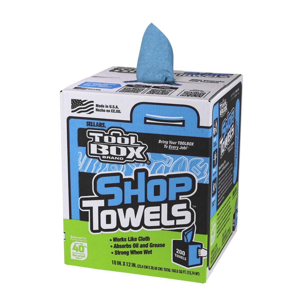 TOOLBOX Blue Shop Towels 200-Count Box (6 Boxes per Case)