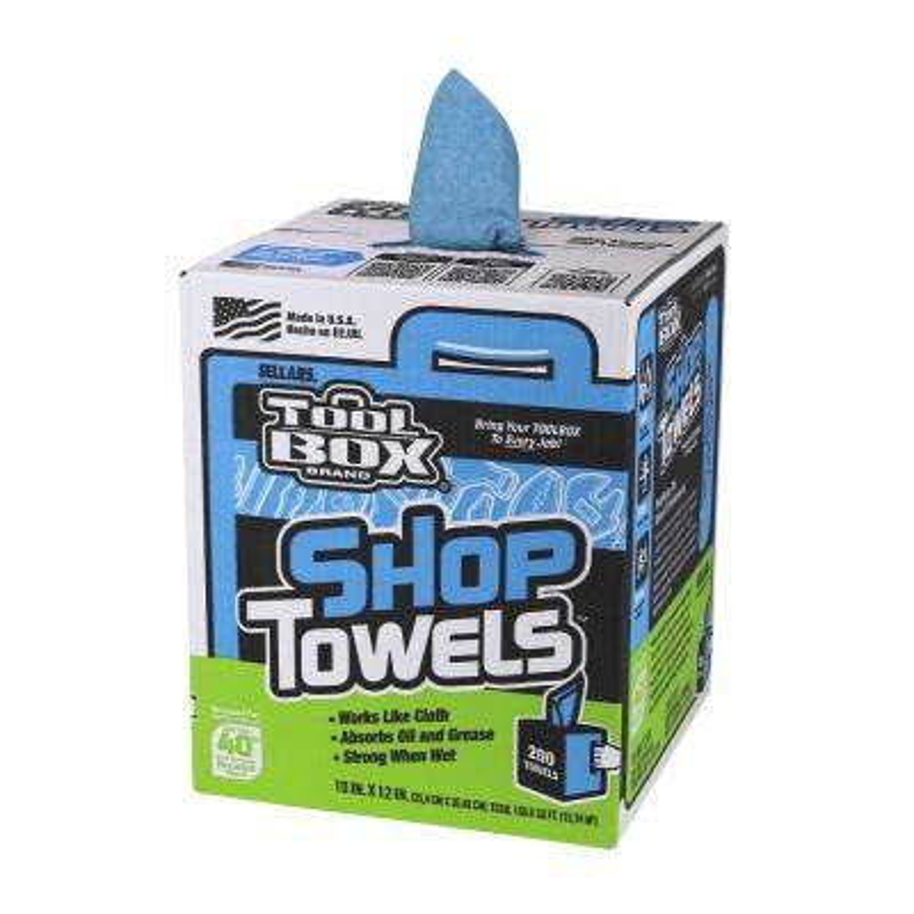Blue Shop Towels 200-Count Box (6 Boxes per Case)
