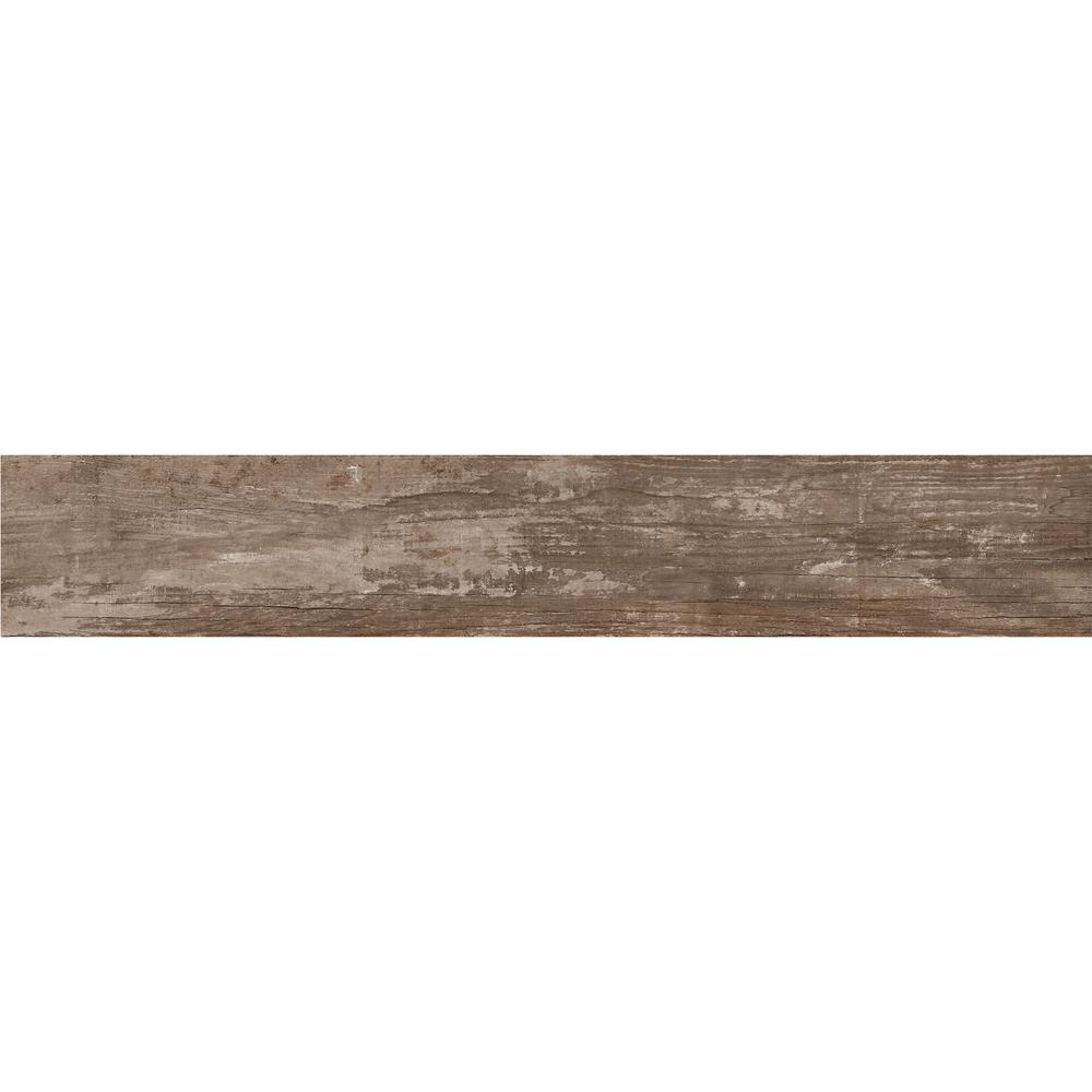 Daltile Rustic Bridge Dark Brown 8 In X 48 Color Body Porcelain Floor