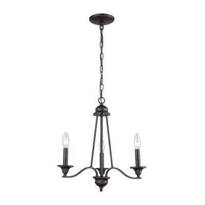 Farmington 3-Light Oil Rubbed Bronze Chandelier