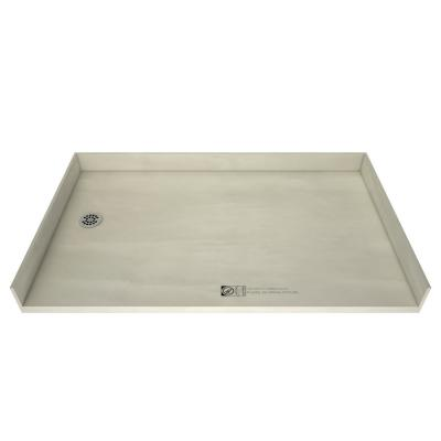 Redi Free 35 in. x 54 in. Barrier Free Shower Base with Left Drain and Polished Chrome Drain Plate