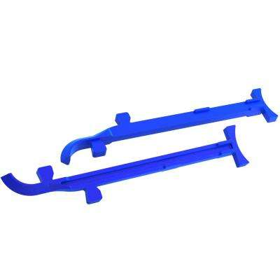 8 in. to 10 in. Cast Aluminum Mason Line Stretchers (Pair)