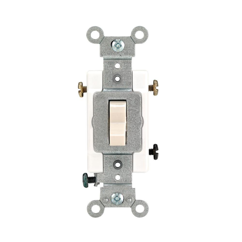 Leviton 20 Amp 3-Way Preferred Toggle Switch, Light Almond-R56-0CSB3 ...