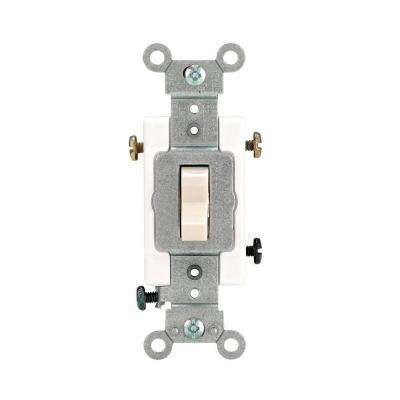 20 Amp 3-Way Preferred Toggle Switch, Light Almond