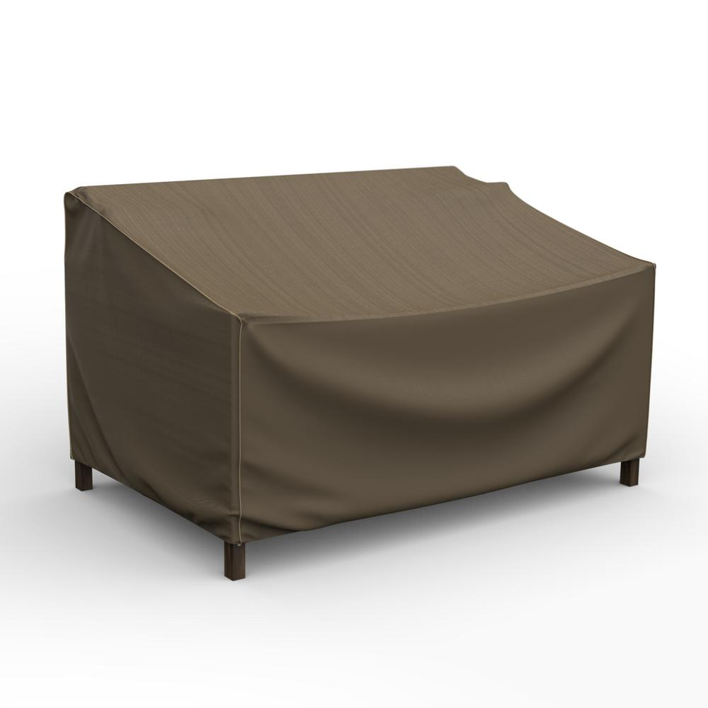Budge NeverWet Hillside Small Black and Tan Patio Sofa Cover ...