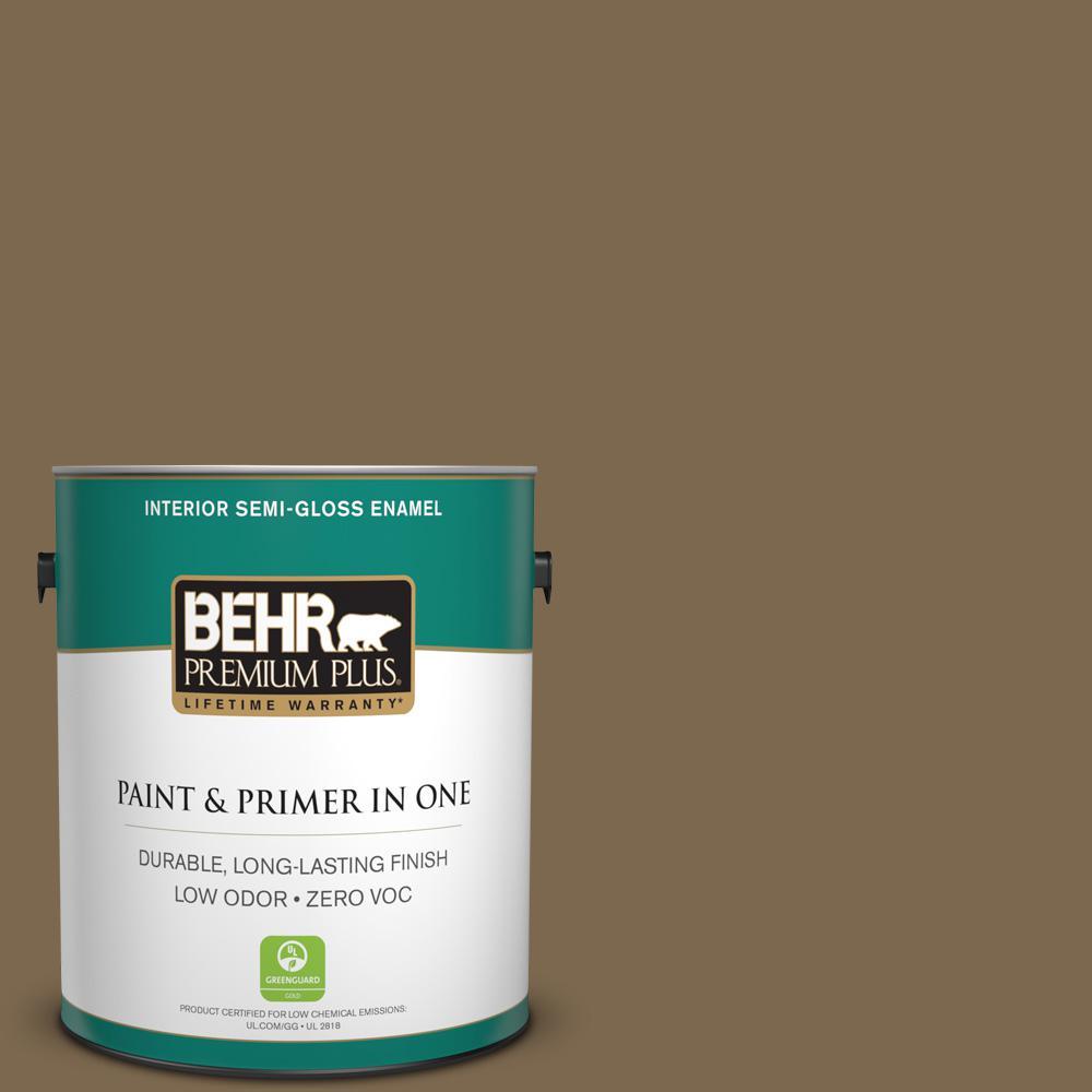 BEHR Premium Plus 1-gal. #N300-7 Mayan Ruins Semi-Gloss Enamel Interior Paint