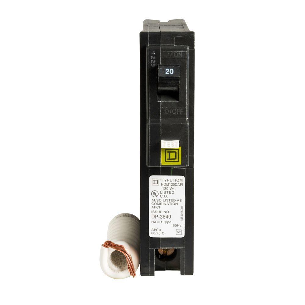 Homeline 20 Amp Single-Pole Combination Arc Fault Circuit Breaker (12-Pack)