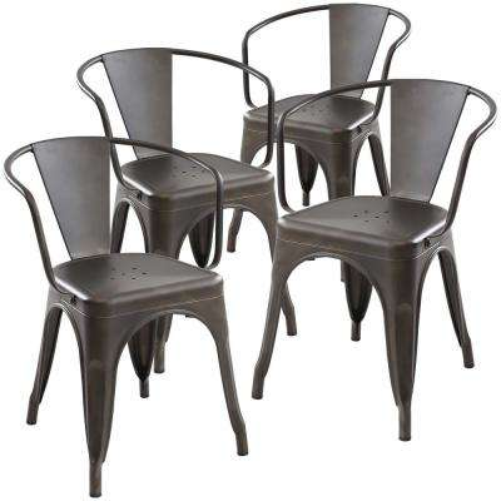 Cantina Bronze Arm Chair (Set of 4)