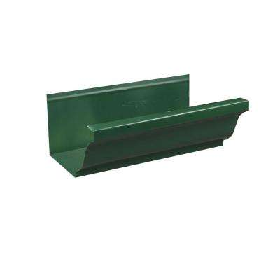6 in. x 8 ft. K-Style Forest Green Aluminum Gutter