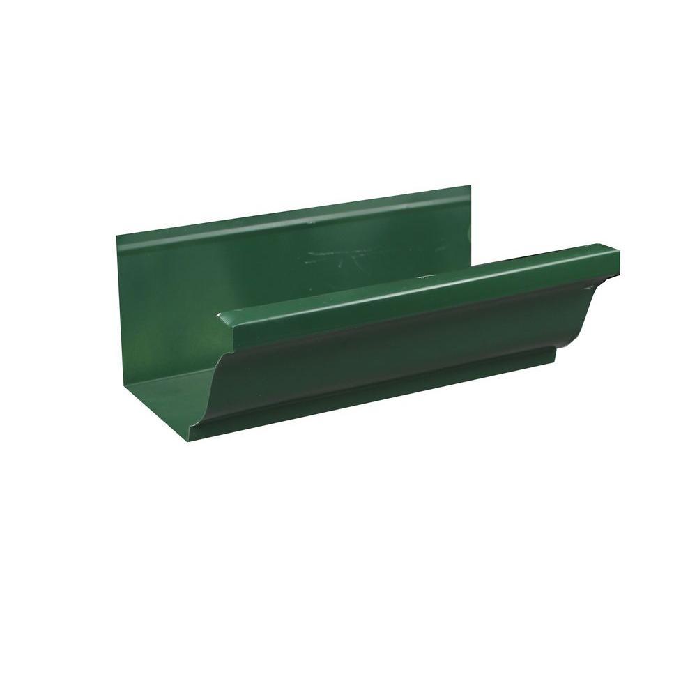 6 in. x 8 ft. K-Style Forest Green Aluminum Gutter