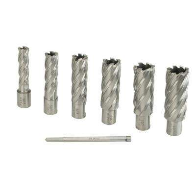 2 in. D x 9/16 in. to 1-1/16 in. High Speed Annular Cutter Kit (7-Piece)